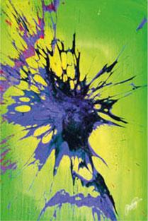 MEER DER FRUCHTBARKEIT / BOMB ART / akryl & sprengstoff auf leinwand / Artist - Andreas Streicher