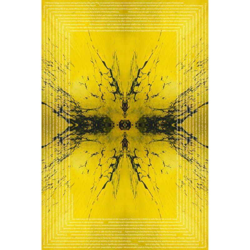 EVERYONE / METAMORPHOSIS / alpha /giclee print on canvas / Artist - Andreas Streicher
