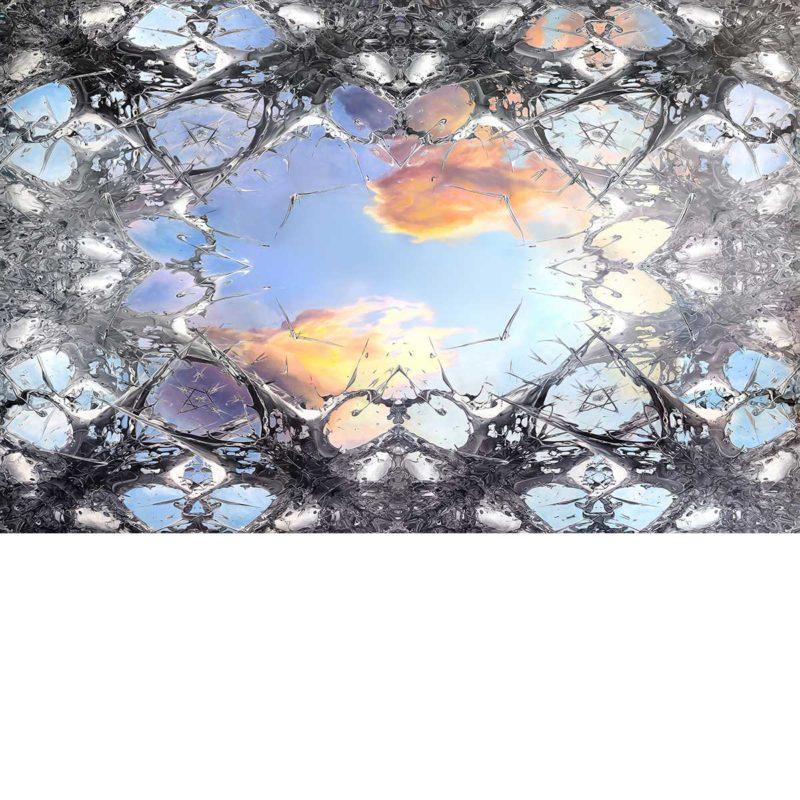 FREEDOM 44 A / METAMORPHOSIS / worlds first hyperoriginal /oil and diamond powder on canvas / 291xx180 cm / Artist - Andreas Streicher
