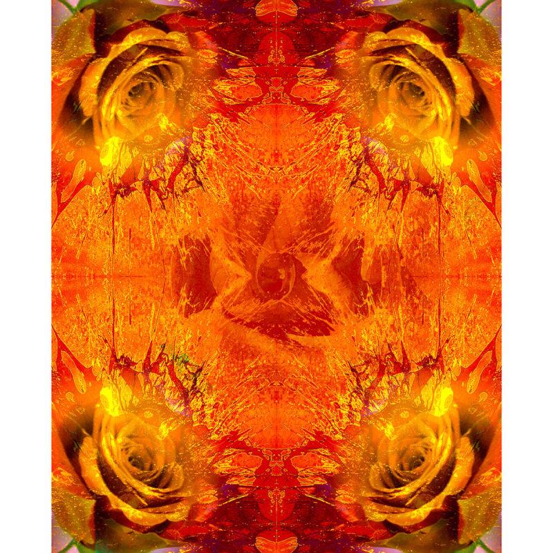FOR ROSES BURBON / METAMORPHOSIS / alpha /giclee print on canvas / Artist - Andreas Streicher