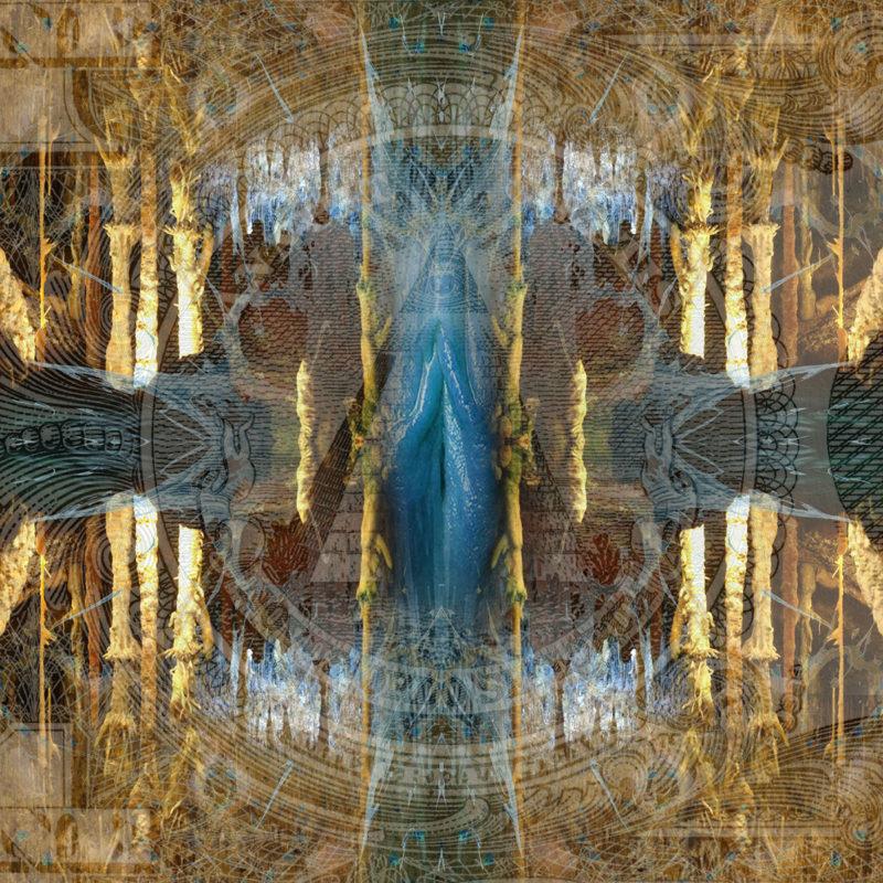 NOVUM ORDO SECLORUM / METAMORPHOSIS / variant /mixed media on canvas / Artist - Andreas Streicher